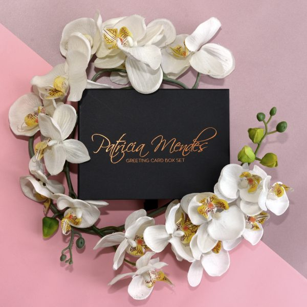 Greeting cards box set pack of 10 gold foil floral blush envelope greeting cards box set m4hsunfo