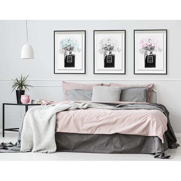 Limited Edition Wall Print Chanel Noir Black And White