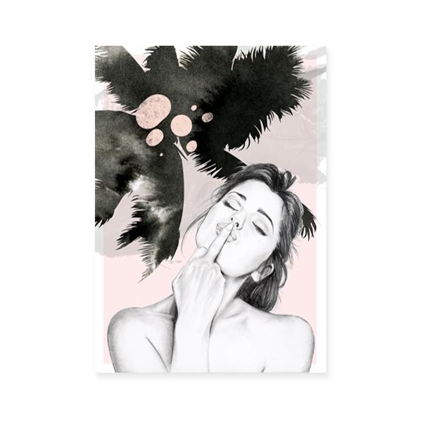 a06572c872d2 Lola poster wall art print pink Black